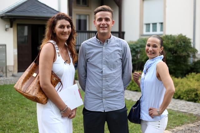 Die Immobilienjäger: Die Dresden-Makler (v.l.): Stefanie Kestner, Stefan Thrams und Marlene Wachtel. Foto: MG RTL D / Filmpool